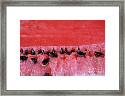 Watermelon Seeds Framed Print by Susan Herber
