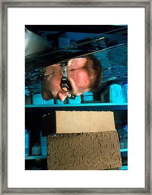 Waterproof Bricks Framed Print by Volker Steger