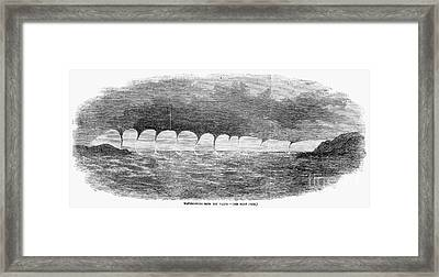 Waterspouts, 1856 Framed Print by Granger