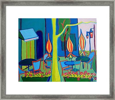 Watertown Cafe Framed Print by Debra Bretton Robinson