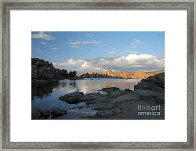 Watson Lake 5  Framed Print by Diane Greco-Lesser