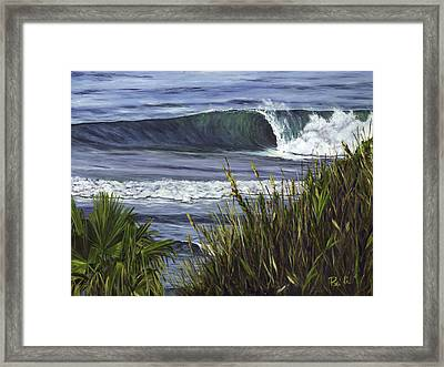 Wave 4 Framed Print by Lisa Reinhardt