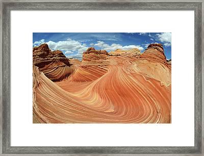 Wave In The Sun Framed Print by David Hogan