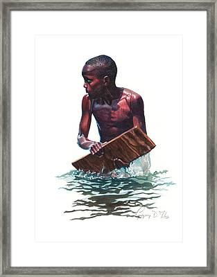 Wave Rider Framed Print by Gregory Jules