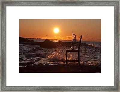 Wave Splash 1 Framed Print by Ron Smith