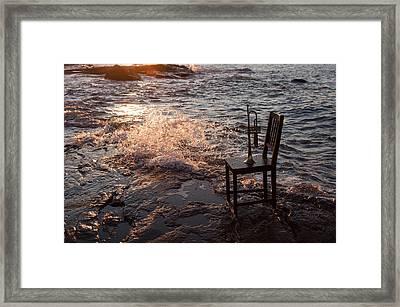 Wave Splash 2 Framed Print by Ron Smith