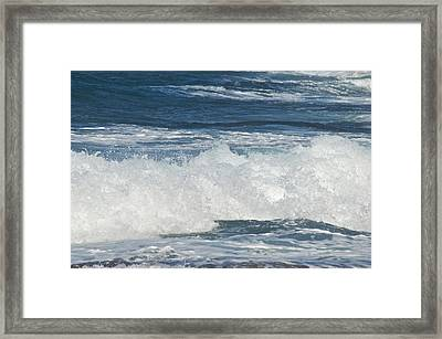 Waves Breaking 7964 Framed Print by Michael Peychich