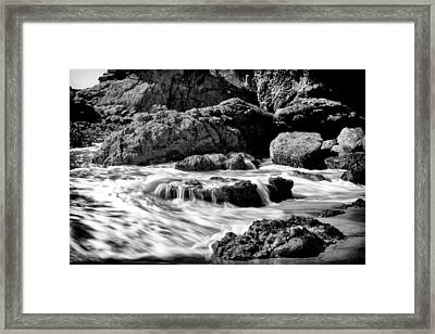 Waves On Leo Carillo State Beach Framed Print by Ken Wolter