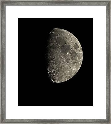 Waxing Gibbous Moon Framed Print by Eckhard Slawik