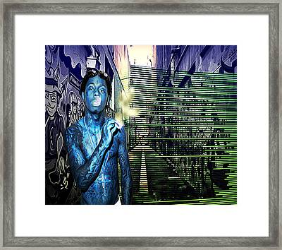 My Music Is Loud  Framed Print by Casey P