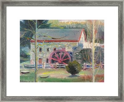 Wayside Inn Mill 2 Framed Print by Sid Solomon