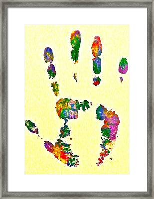 We Are As One Humanity Framed Print by Gloria Warren