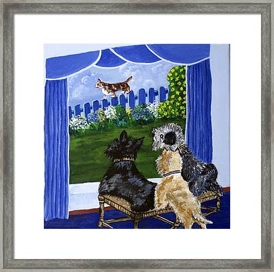 We See A Cat Framed Print by Susan McLean Gray