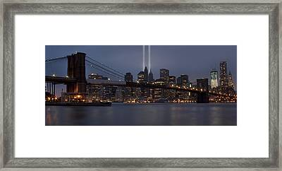 We Will Never Forget Framed Print by Susan Candelario