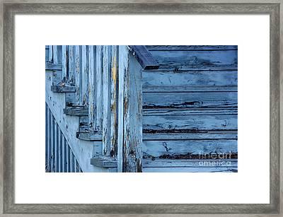 Weathered Blue Framed Print by Vicki Pelham