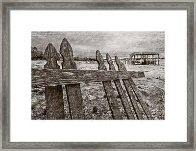 Weathered Framed Print by Debra and Dave Vanderlaan