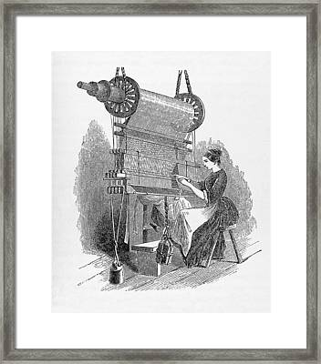Weaving Loom Framed Print by �science, �industry & Business Librarynew York Public Library