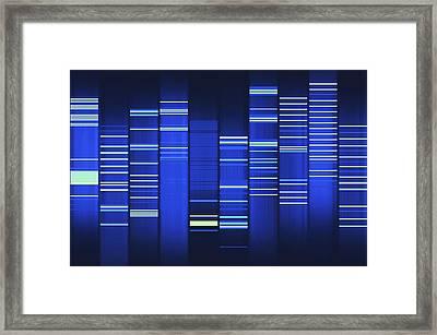 Website Source Code Visualisation Framed Print by Web2dna-baekdal.com
