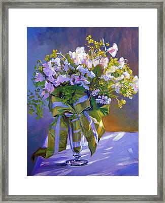 Wedding Bouquet Framed Print by David Lloyd Glover