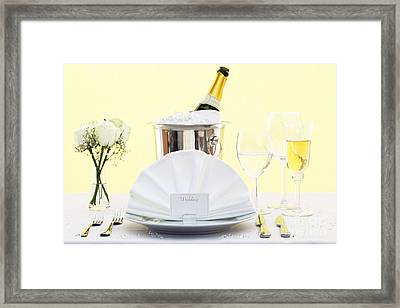 Wedding Table Place Setting  Framed Print by Richard Thomas
