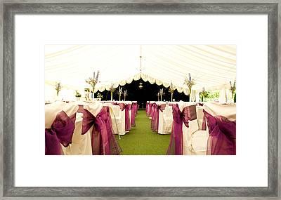 Wedding Venue Framed Print by Tom Gowanlock
