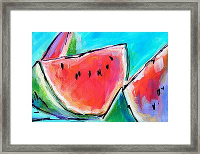Wedgies Framed Print by Judy  Rogan