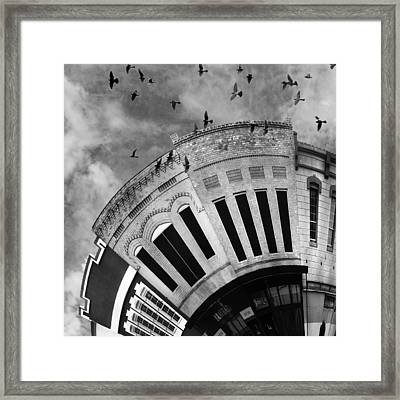Wee Bryan Texas Detail In Black And White Framed Print by Nikki Marie Smith
