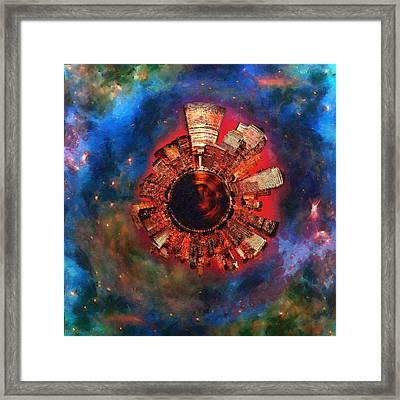 Wee Manhattan Planet - Artist Rendition Framed Print by Nikki Marie Smith