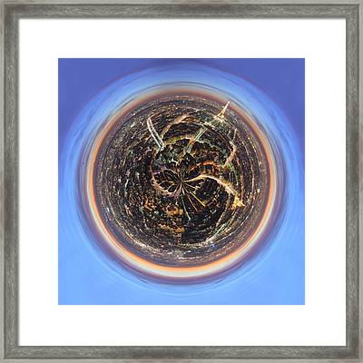 Wee Paris Twilight Planet Framed Print by Nikki Marie Smith
