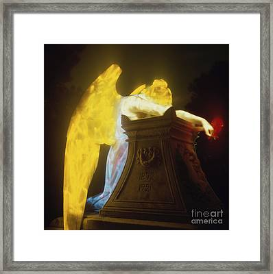 Weeping Angel Framed Print by Keith Kapple