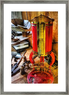 Weigh Your Goods - General Store - Vintage - Nostalgia Framed Print by Lee Dos Santos