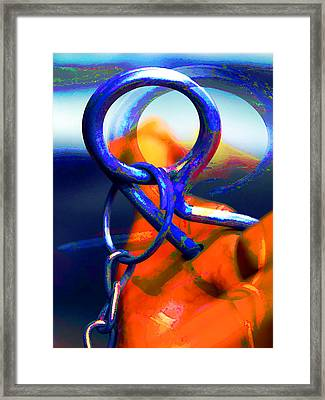 Welcome Back Cotter Pin Framed Print by Elaine Plesser