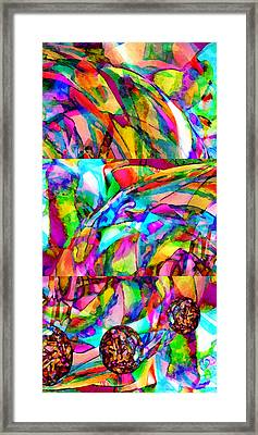 Welcome To My World Triptych Framed Print by Angelina Vick
