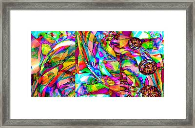 Welcome To My World Triptych Horizontal Framed Print by Angelina Vick