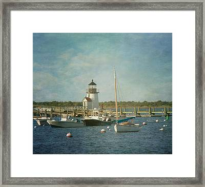 Welcome To Nantucket Framed Print by Kim Hojnacki