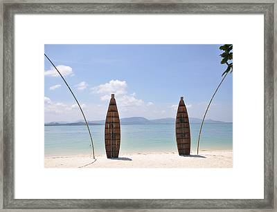 Welcome To Rang Yai Island Framed Print by Eustaquio Santimano