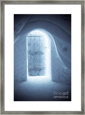 Welcome To The Ice Hotel Framed Print by Sophie Vigneault