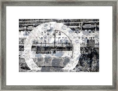 Welcome To The Moon Framed Print by Luke Moore