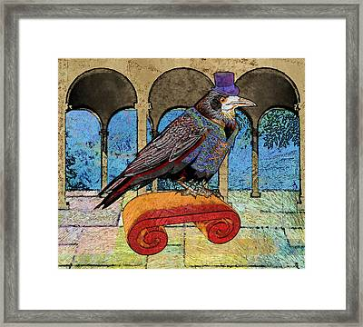 Well Dressed Raven Framed Print by Mary Ogle