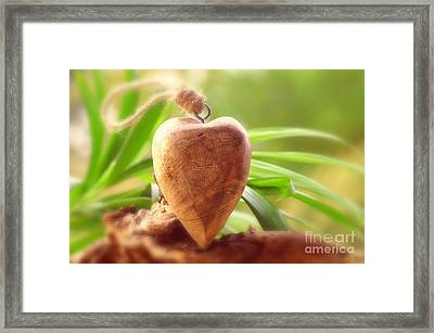 Wellnes Heart Framed Print by Tanja Riedel