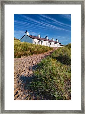 Welsh Cottages Framed Print by Adrian Evans