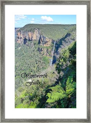 Wentworth Falls Framed Print by Carla Parris