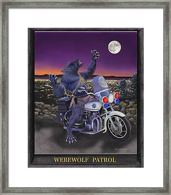 Werewolf Patrol Framed Print by Glenn Holbrook
