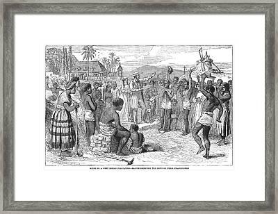 West Indies: Emancipation Framed Print by Granger