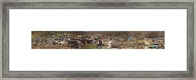 West Liberty Kentucky Tornado Distruction Framed Print by Douglas Barnett