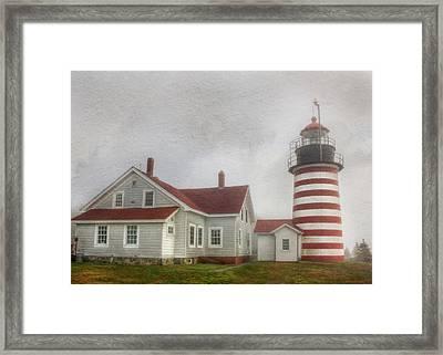 West Quoddy Head Lighthouse Framed Print by Lori Deiter