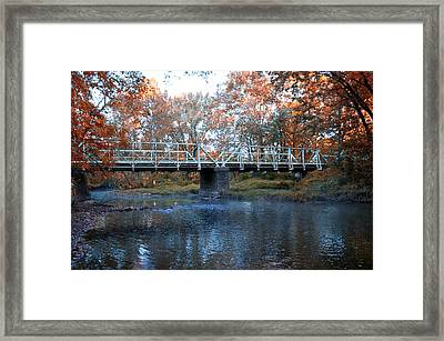 West Valley Green Road Bridge Along The Wissahickon Creek Framed Print by Bill Cannon