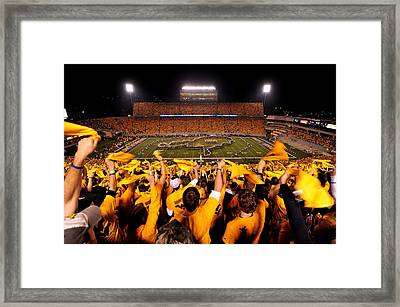 West Virginia Milan Puskar Stadium Framed Print by Lance King