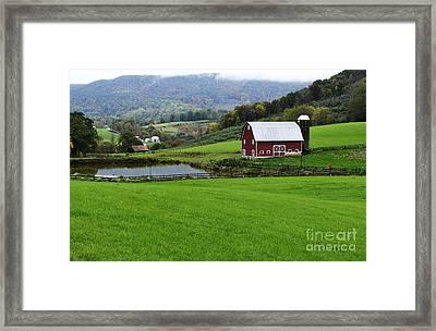 West Virginia Red Barn Framed Print by Thomas R Fletcher