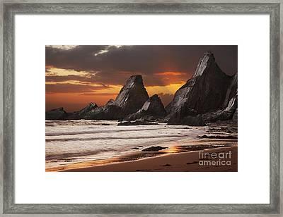 Westcombe Bay Framed Print by Richard Garvey-Williams